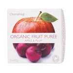 Clearspring fruit puree apple & plum 2x100 gr
