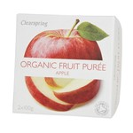 Clearspring fruit puree apple 2x100 gr