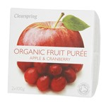 Clearspring fruit puree apple & strawberry 2x100 gr