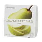 Clearspring fruit puree pear 2x100 gr