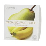 Clearspring fruit puree pear & banana 2x100 gr