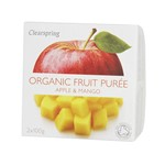 Clearspring fruit puree apple & mango 2x100 gr