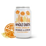 Whole earth organic sparkling orange & lemon 330 ml
