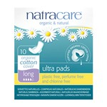 Natracare 3104 cotton ultra pads long w/wings 10 stk