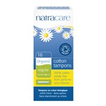 Natracare 8002 cotton tampons regular w/applicator 16