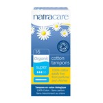 Natracare 9002 cotton tampons super w/applicator 16 stk