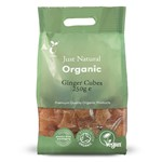 Just natural organic ginger cubes 250 g