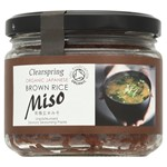 Clearspring brown rice miso 300 gr glass